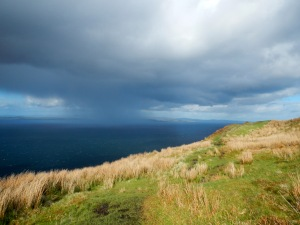 Avoiding some weather on the Arran Coastal Way