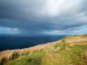 Avoiding some weather on the Arran Coastal Way