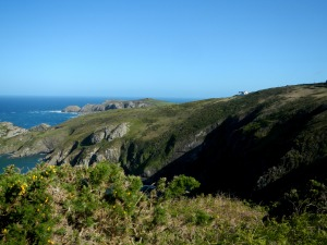 Spot Pwll Deri youth hostel...Its the little white building looking over the sea