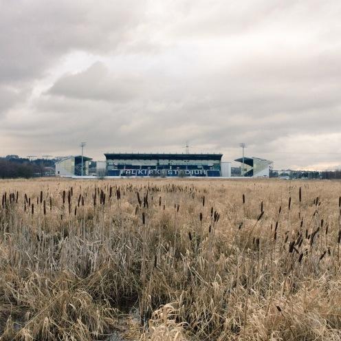 Urban rambling past Falkirk football stadium