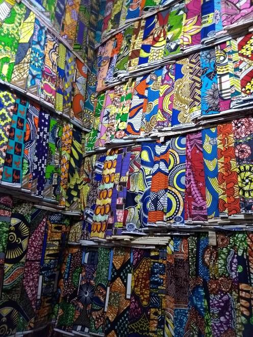 So many fabrics in Kimironko Market