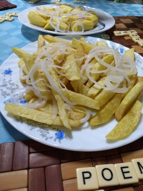 One of the many fried, beige 'meals' we ate