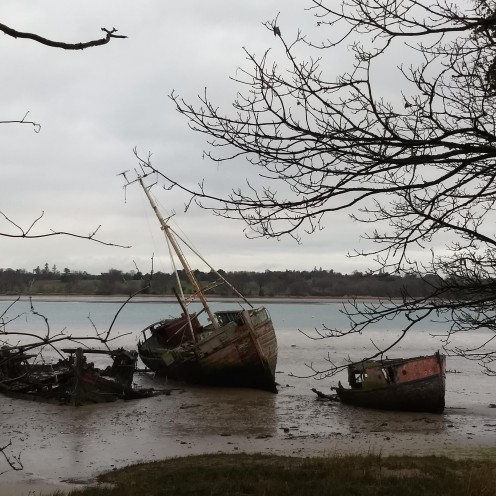 Atmospheric boats at Pin Mill