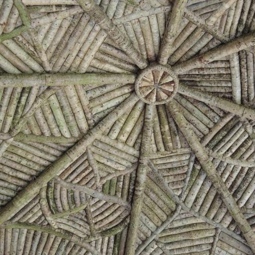 Intricate wooden summerhouse