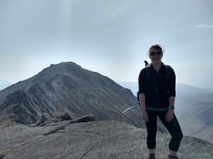 The ridge between Goatfell and North Goatfell