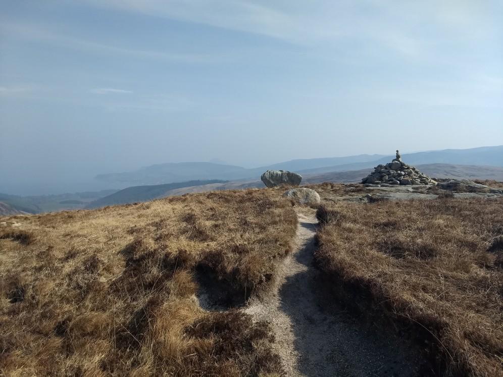 Descending toward Glen Rosa