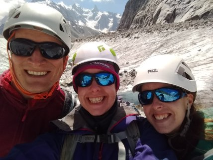 All smiles on the Mer de Glace